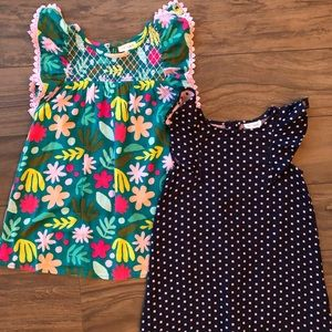Two toddler shift dresses